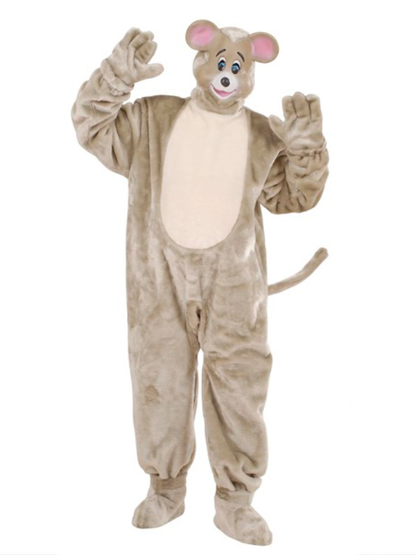 Plush Mouse Costume (Costume Gloves Shoe Covers Mask)