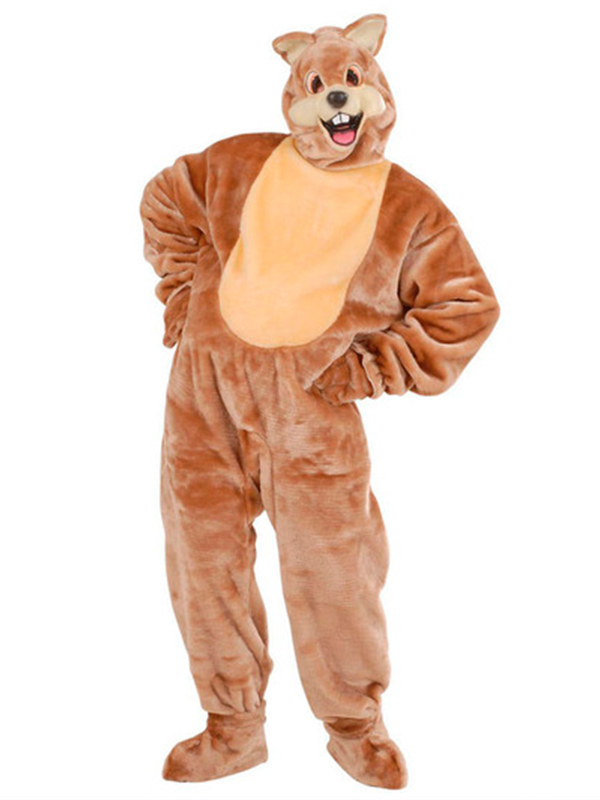 Plush Squirrel Costume (Costume Gloves Shoe Covers Mask)