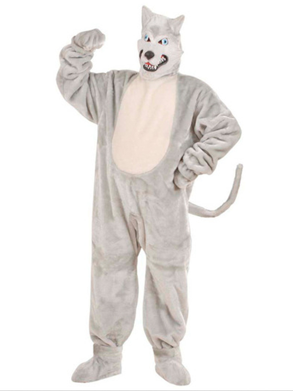 Plush Wolf Costume (Costume Gloves Shoe Covers Mask)