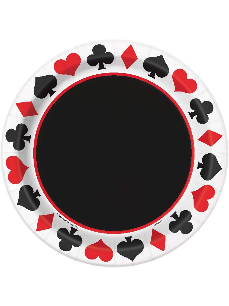 Casino Party Plates 9""