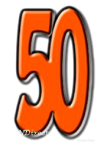 50 Fifty Cardboard Cutout