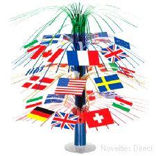 International Flag Cascade Centerpiece