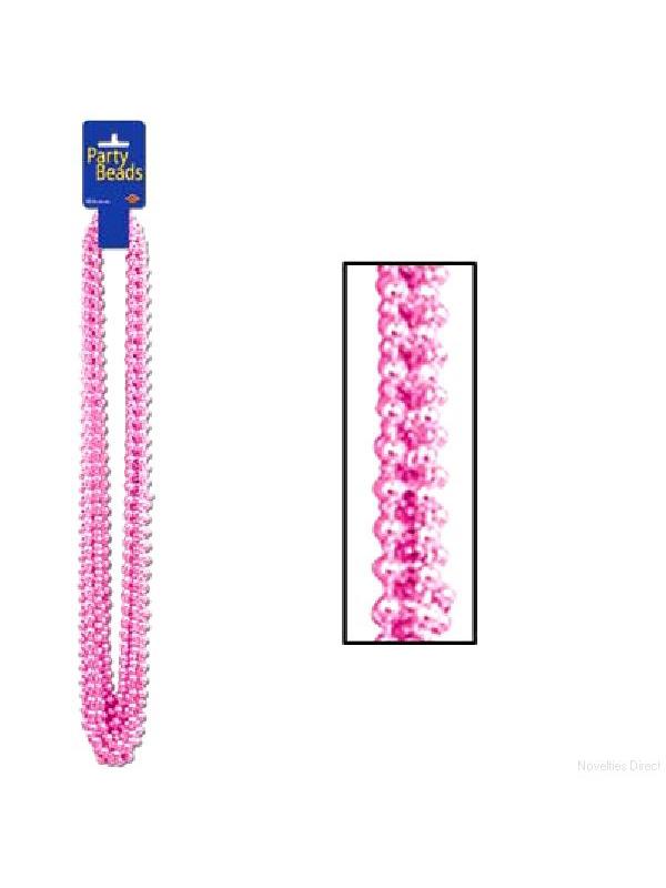 Metallic Pink Party Beads