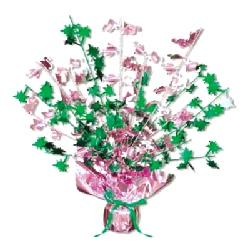 Flamingo & Palm Tree Centerpiece 15 Inch (Quantity 1)