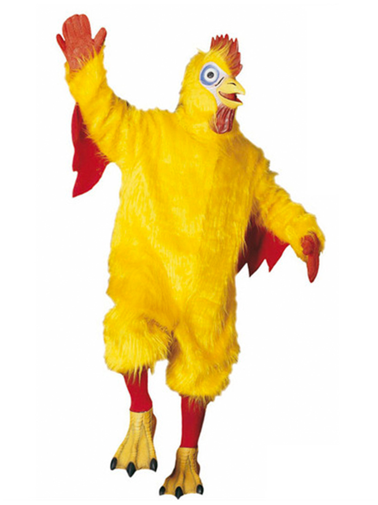 Chicken Costume Plush (Jumpsuit Gloves Socks Shoe covers Mask)