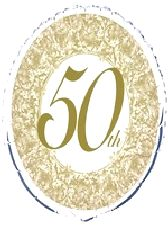 Foil Balloon '50th ANNIVERSARY'