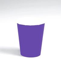 Purple 9oz Paper Cup
