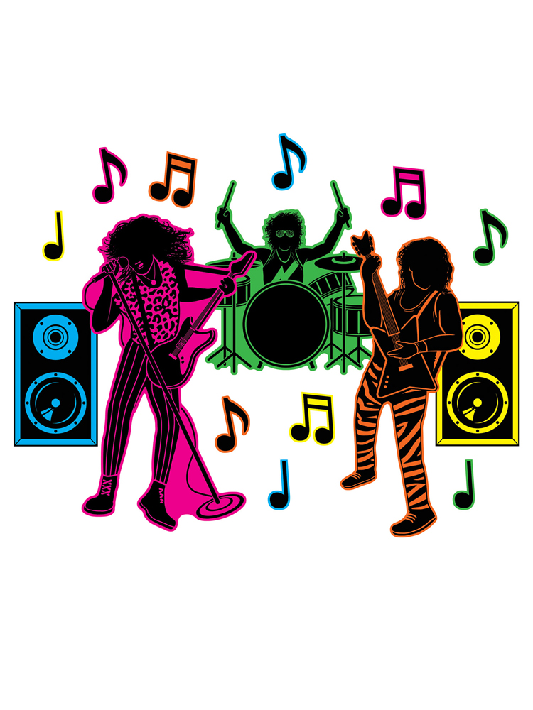 """80's Band Silhouettes 3½""""-22½"""""""