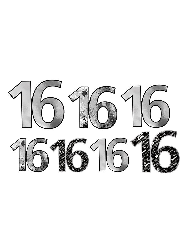 16  Foil Cutouts