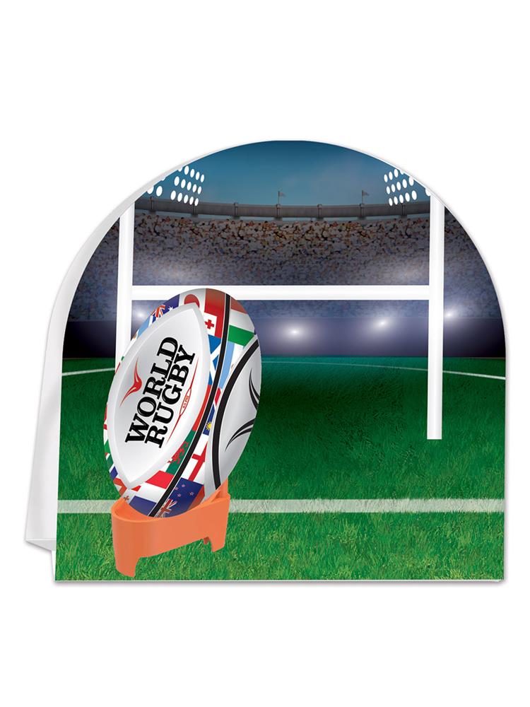3-D Rugby Centerpiece