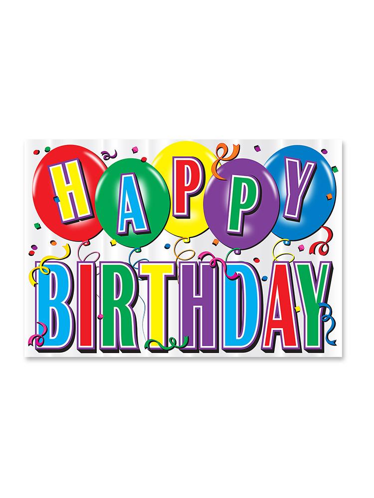 Printed Hi-Gloss Foil Birthday Sign