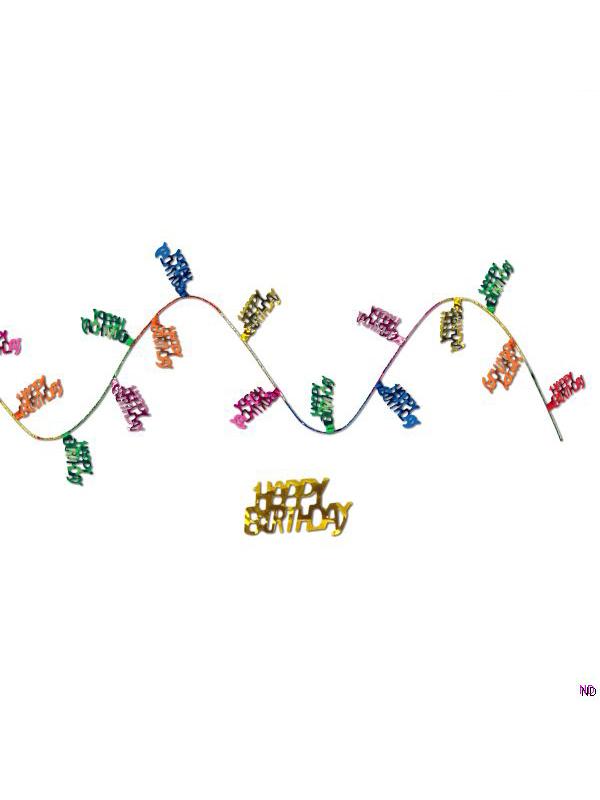 Happy Birthday Gleam and Flex Garland