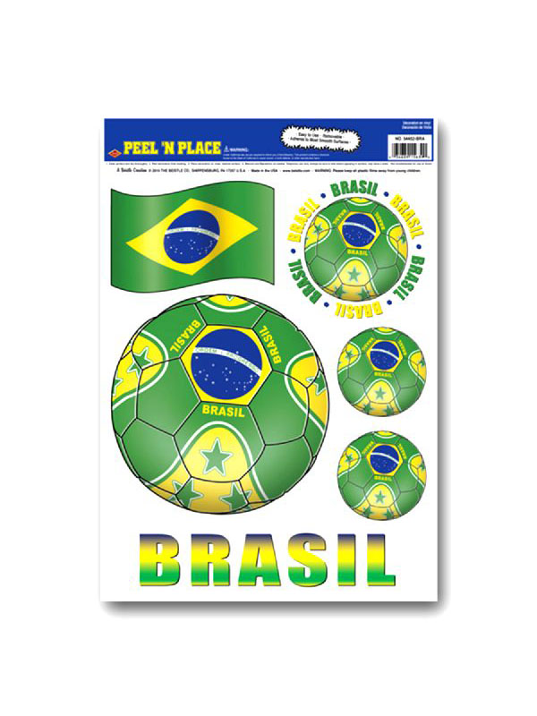 Brazil Peel 'n' Place Removable Stickers