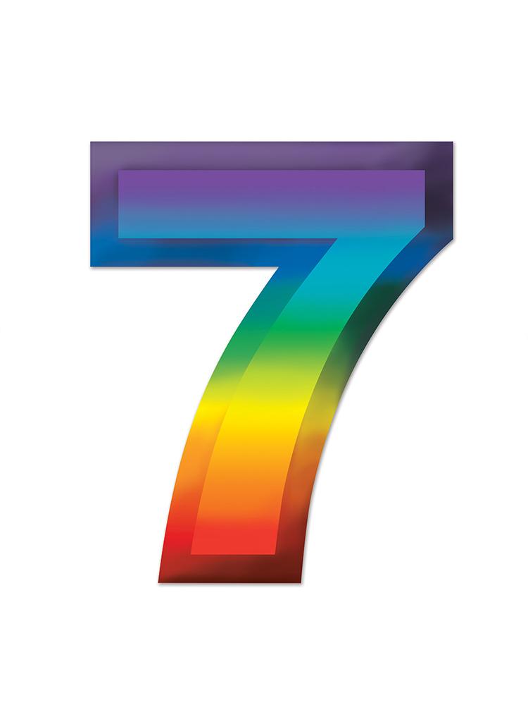 Multi-Color Plastic 3-D Number  7