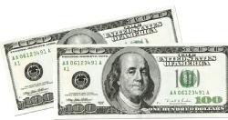 Big Bucks Cutout $100 Bill
