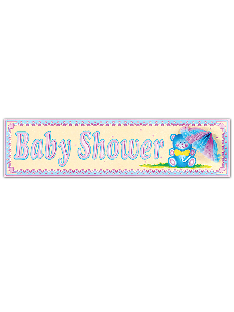 Baby Shower Sign Tissue Parasol