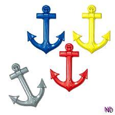Plastic Ship Anchor Decoration
