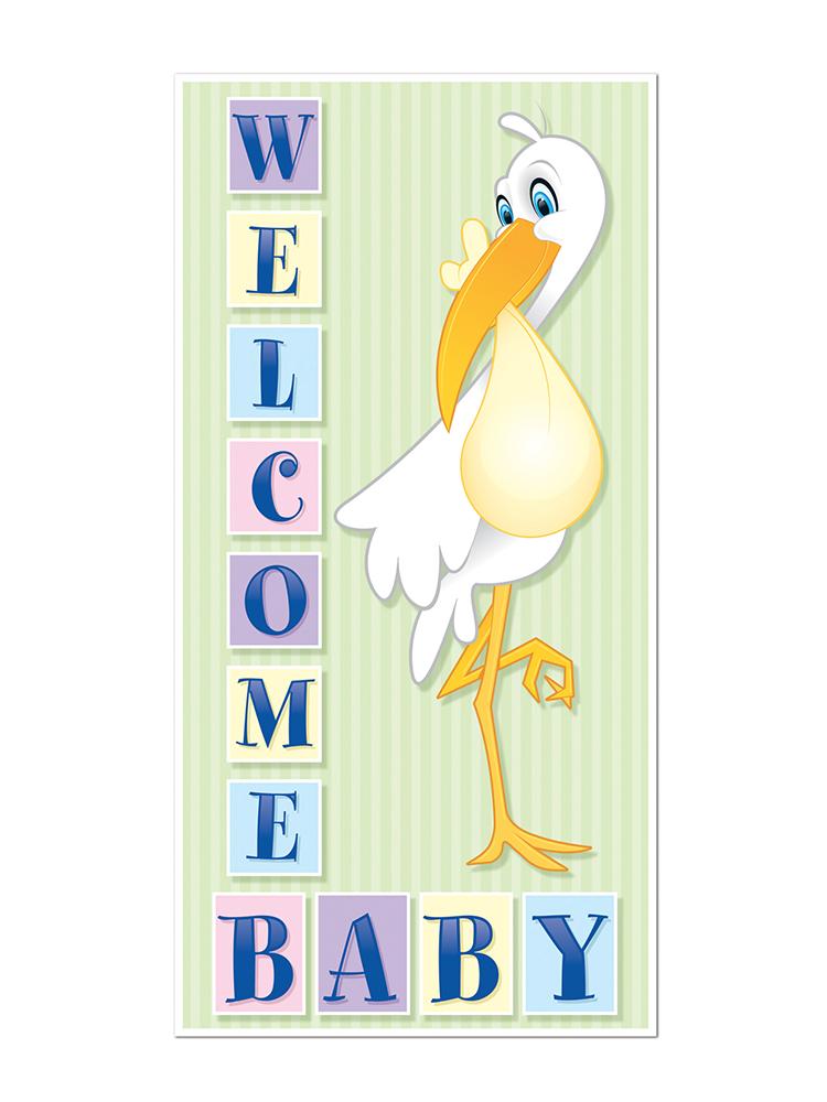 Welcome Baby Door Cover