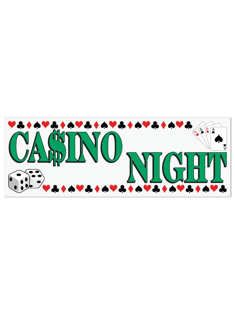 Casino Night Sign Banner