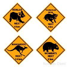 Australian Outback Road Sign Cutouts