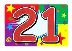 21 Glittered Sign