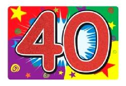 40 Glittered Sign