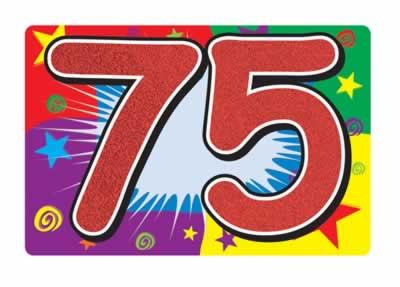 75 Glittered Sign