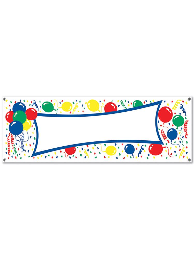 Balloons Sign Banner