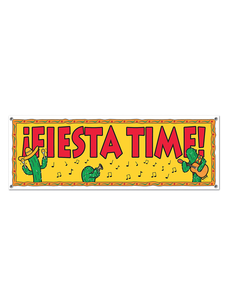 Fiesta Time! Sign Banner