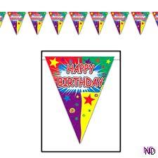 Happy Birthday Pennant Bunting