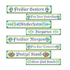Oktoberfest Sign Cutout - Pack of 4