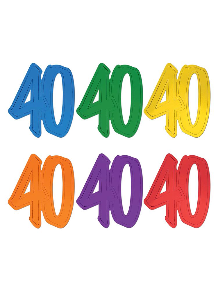 40  Foil Silhouettes
