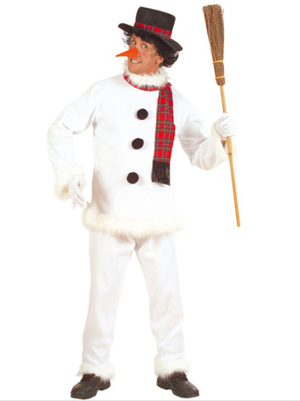 Snowman Costume (Coat Pants Hat Scarf Nose)