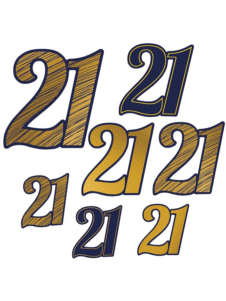 21  Foil Cutouts