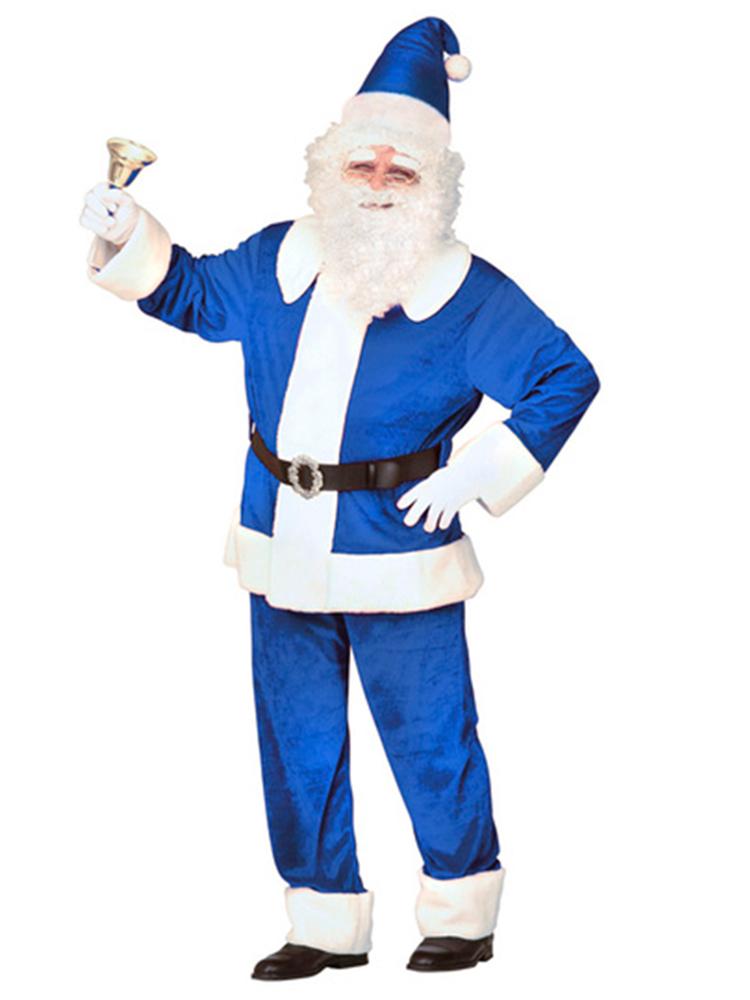 Santa Deluxe Blue Velvet Costume