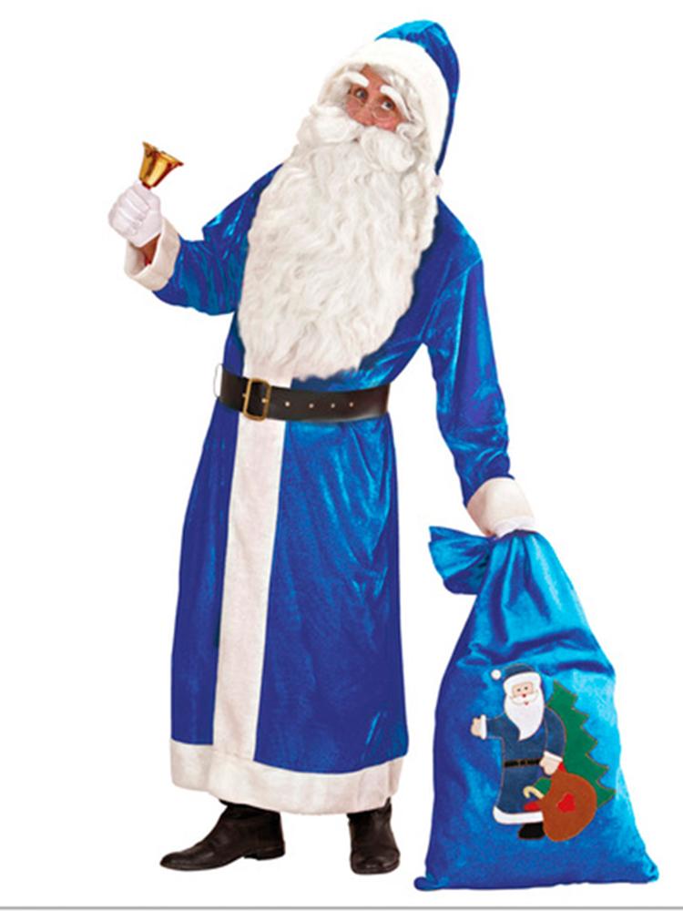 Santa Deluxe Velvet Blue Coat