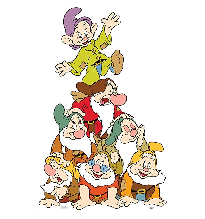 Seven Dwarves  (Snow White) Cardboard Cutout
