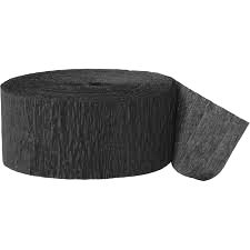 Crepe Streamer - Black