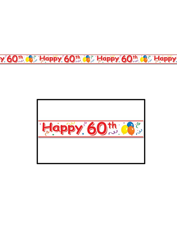 Happy  60th  Birthday Party Tape