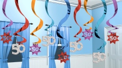 50 Hanging Swirl Decoration Party Continues 15 strings (Quantity 1)