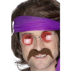 70's Brown Moustache