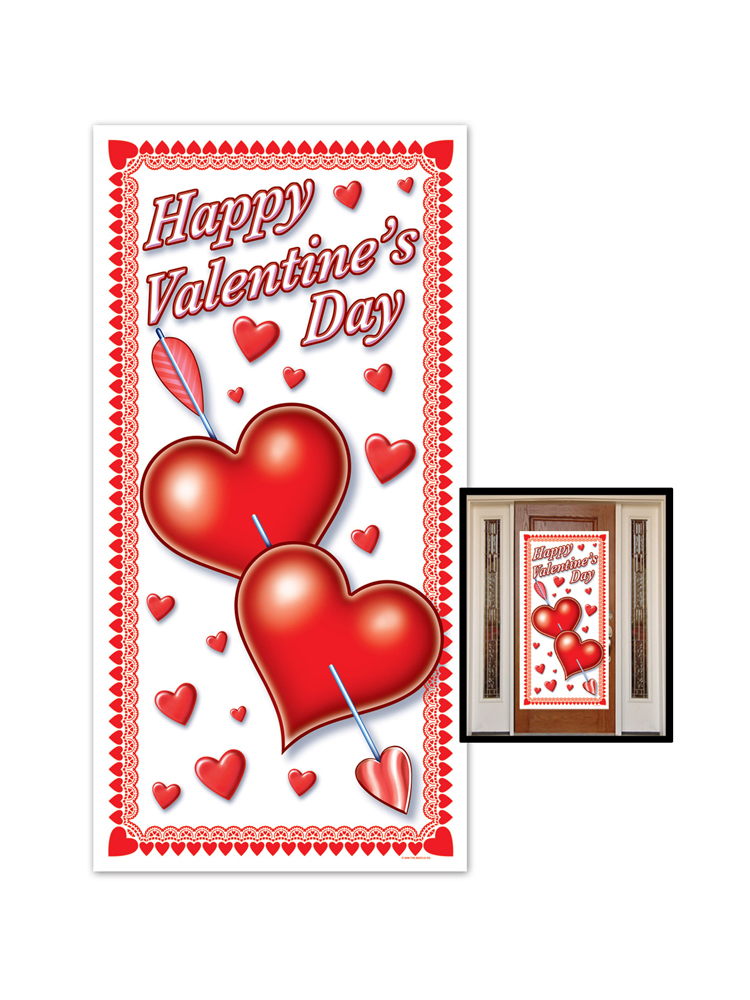 "Happy Valentine's Day Door Cover 30"" x 5'"
