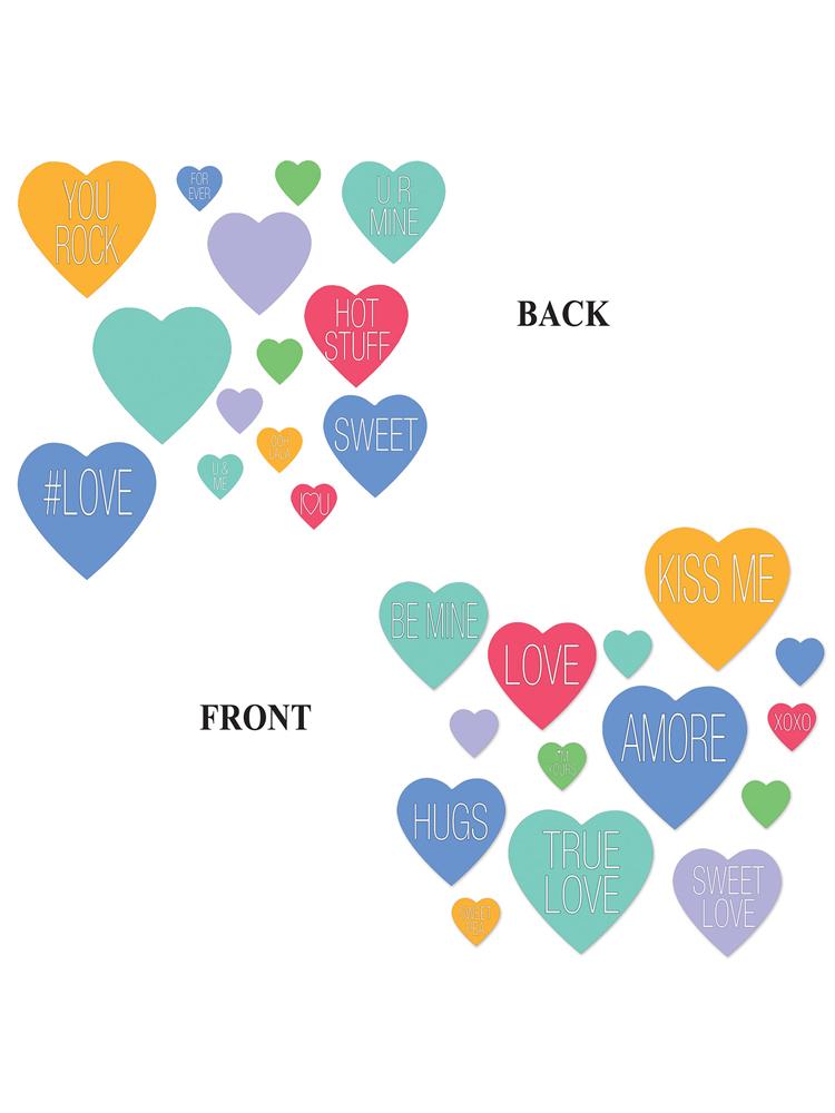 Candy Heart Cutouts Asstd