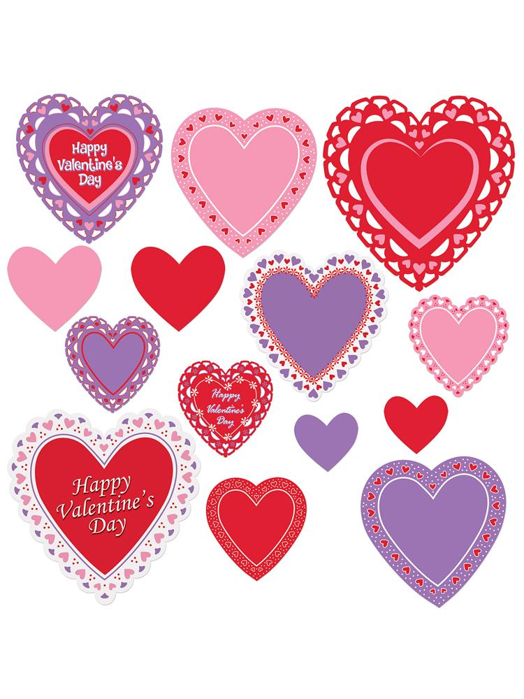 Valentine's Day Cutouts Asstd