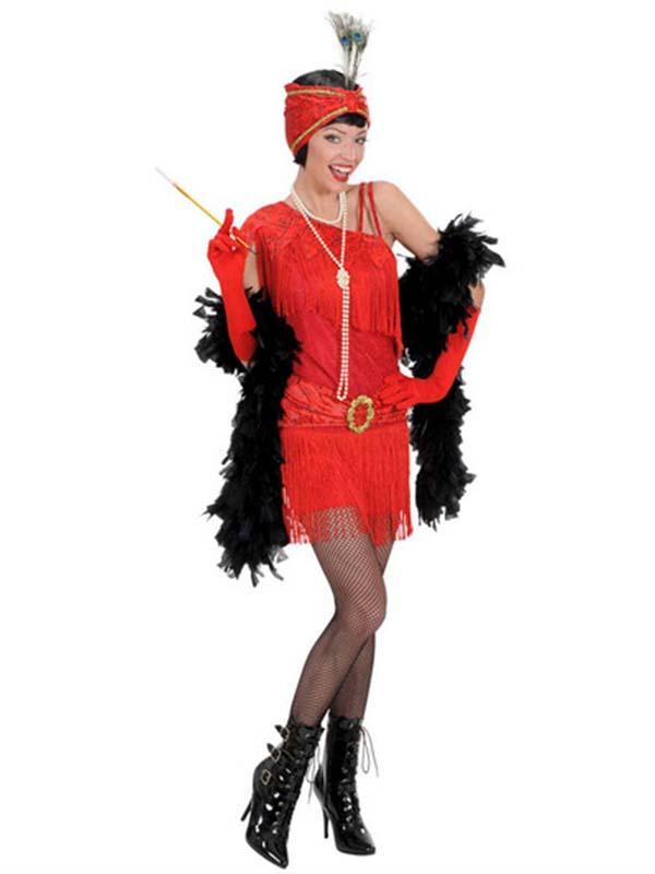 1920's Flapper - Red (Dress, Headpiece)
