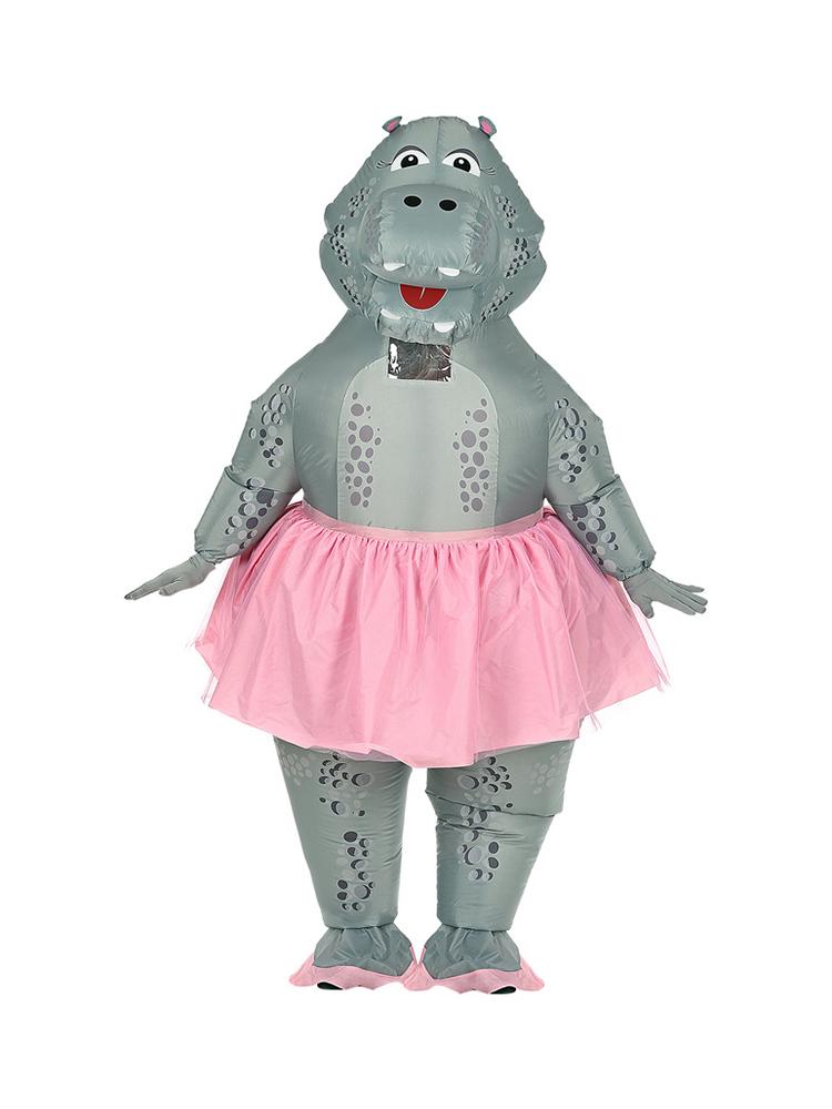 Hippo Ballerina(Airblown Inflatable Oversized Costumew/Mask)