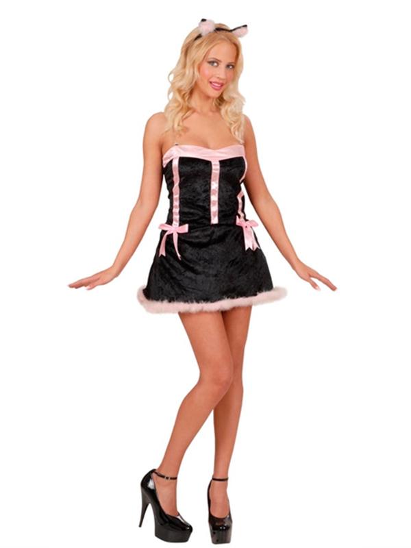 Kitty - Pink/Black (Dress Ears)