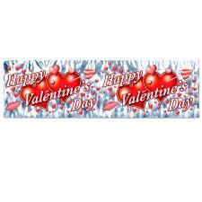 Metallic Fringe Happy Valentine's Day Banner