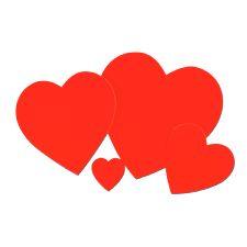 """Plain Heart Cutouts - 4""""/10cm"""