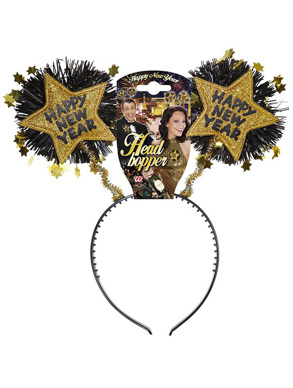Happy New Year Head Boppers - Gold